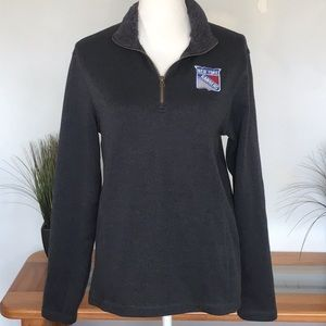 NY RANGERS RIBBED THERMAL SWEATERW/SHERPA COLLAR